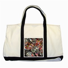 Abstract Composition Digital Processing Two Tone Tote Bag