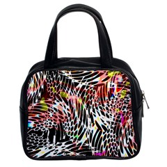 Abstract Composition Digital Processing Classic Handbags (2 Sides)
