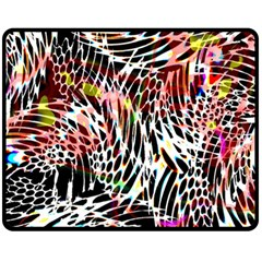 Abstract Composition Digital Processing Fleece Blanket (Medium)