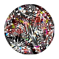 Abstract Composition Digital Processing Round Filigree Ornament (Two Sides)