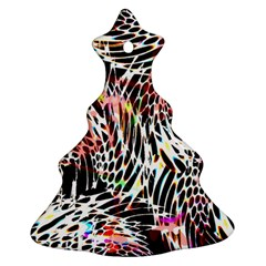 Abstract Composition Digital Processing Christmas Tree Ornament (Two Sides)