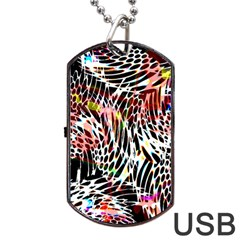 Abstract Composition Digital Processing Dog Tag USB Flash (One Side)
