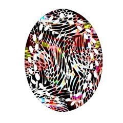 Abstract Composition Digital Processing Oval Filigree Ornament (Two Sides)