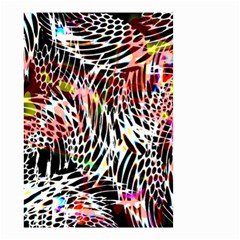 Abstract Composition Digital Processing Small Garden Flag (Two Sides)