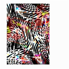 Abstract Composition Digital Processing Large Garden Flag (two Sides)