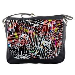 Abstract Composition Digital Processing Messenger Bags