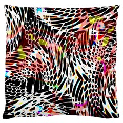 Abstract Composition Digital Processing Large Cushion Case (one Side)