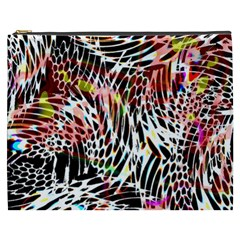 Abstract Composition Digital Processing Cosmetic Bag (xxxl)