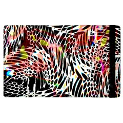 Abstract Composition Digital Processing Apple iPad 3/4 Flip Case