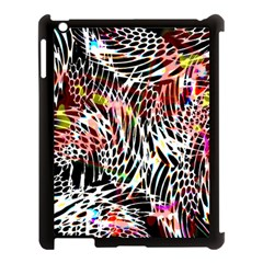 Abstract Composition Digital Processing Apple iPad 3/4 Case (Black)