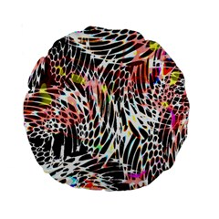 Abstract Composition Digital Processing Standard 15  Premium Round Cushions