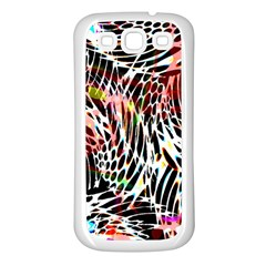 Abstract Composition Digital Processing Samsung Galaxy S3 Back Case (White)