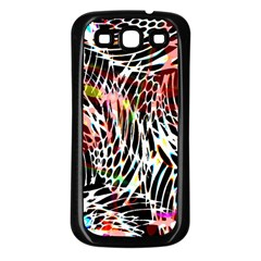 Abstract Composition Digital Processing Samsung Galaxy S3 Back Case (Black)