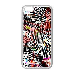 Abstract Composition Digital Processing Apple iPhone 5C Seamless Case (White)