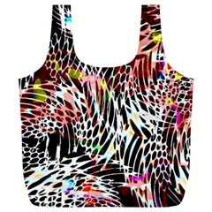 Abstract Composition Digital Processing Full Print Recycle Bags (L)
