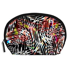 Abstract Composition Digital Processing Accessory Pouches (Large)