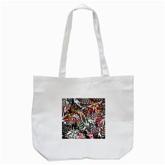 Abstract Composition Digital Processing Tote Bag (White)