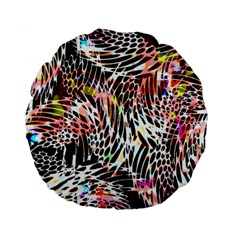 Abstract Composition Digital Processing Standard 15  Premium Flano Round Cushions