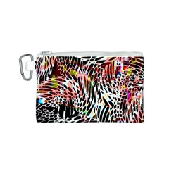Abstract Composition Digital Processing Canvas Cosmetic Bag (s)