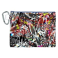Abstract Composition Digital Processing Canvas Cosmetic Bag (XXL)