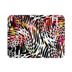 Abstract Composition Digital Processing Double Sided Flano Blanket (Mini)