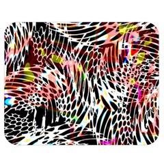 Abstract Composition Digital Processing Double Sided Flano Blanket (Medium)