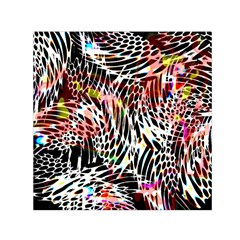 Abstract Composition Digital Processing Small Satin Scarf (Square)
