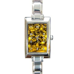 Vortex Glow Abstract Background Rectangle Italian Charm Watch