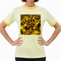 Vortex Glow Abstract Background Women s Fitted Ringer T Shirts