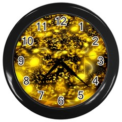 Vortex Glow Abstract Background Wall Clocks (Black)