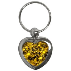 Vortex Glow Abstract Background Key Chains (heart)