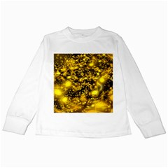 Vortex Glow Abstract Background Kids Long Sleeve T-Shirts