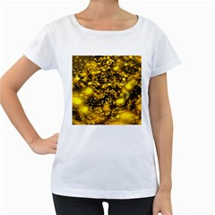 Vortex Glow Abstract Background Women s Loose-Fit T-Shirt (White)