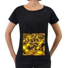 Vortex Glow Abstract Background Women s Loose Fit T Shirt (black)