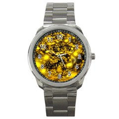 Vortex Glow Abstract Background Sport Metal Watch