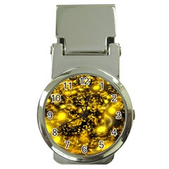 Vortex Glow Abstract Background Money Clip Watches
