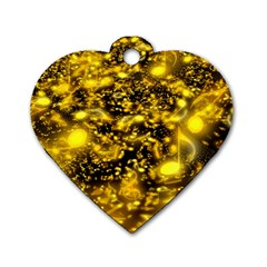 Vortex Glow Abstract Background Dog Tag Heart (one Side)