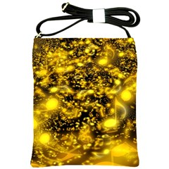 Vortex Glow Abstract Background Shoulder Sling Bags