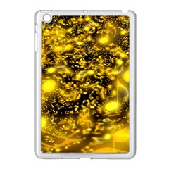 Vortex Glow Abstract Background Apple iPad Mini Case (White)