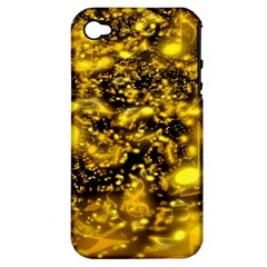 Vortex Glow Abstract Background Apple iPhone 4/4S Hardshell Case (PC+Silicone)