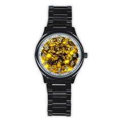 Vortex Glow Abstract Background Stainless Steel Round Watch