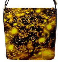 Vortex Glow Abstract Background Flap Messenger Bag (S)