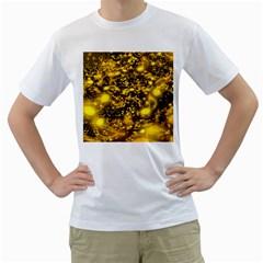 Vortex Glow Abstract Background Men s T-Shirt (White)