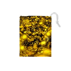 Vortex Glow Abstract Background Drawstring Pouches (Small)