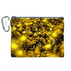Vortex Glow Abstract Background Canvas Cosmetic Bag (xl)