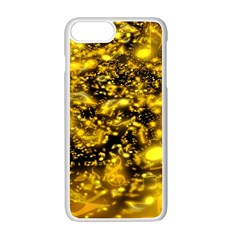 Vortex Glow Abstract Background Apple Iphone 7 Plus White Seamless Case