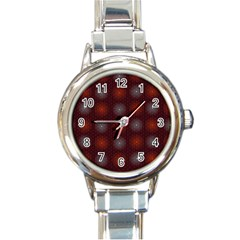 Abstract Dotted Pattern Elegant Background Round Italian Charm Watch