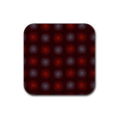 Abstract Dotted Pattern Elegant Background Rubber Square Coaster (4 pack)