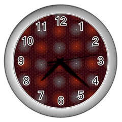 Abstract Dotted Pattern Elegant Background Wall Clocks (silver)