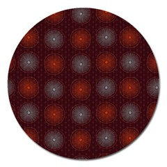 Abstract Dotted Pattern Elegant Background Magnet 5  (Round)